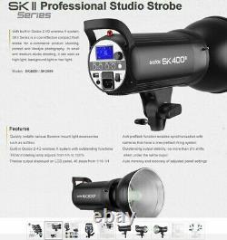 1200w 3x Godox SK400II 400W Studio Flash Strobe Light Head+ TTL Trigger f Nikon
