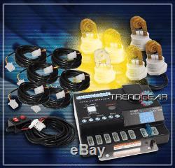 120w 6x20w Amber Flash Strobe Lights Bulb System Ems Police Ambulance Tow Pickup