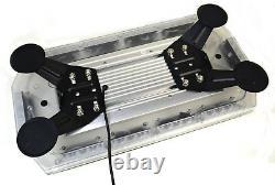 12v 24v Volt Amber 40 LED Flashing Beacon Strobe Light Bar Truck Van Recovery