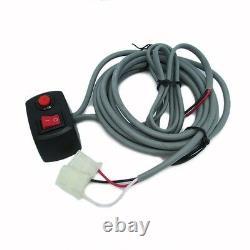 160W 8 LED HID Bulbs White Hide-a-way Emergency Warning Strobe Light System Kit