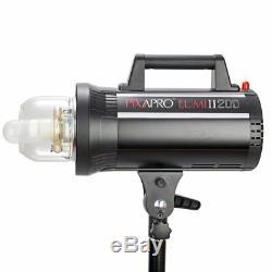 200W MKII Studio Flash Head Monolight Fan Cool Strobe Portrait Built-In Receiver