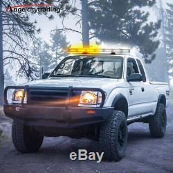 27 64LED Roof Light Bar Tow Truck Emergency Beacon Warn Plow Strobe Amber White