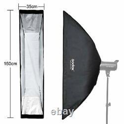 2Pcs Godox 35x160cm Bowens Mount Strip Softbox + Grid For Strobe Flash LightUK