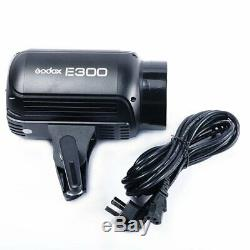 2Pcs Godox E300 2x300W Studio Strobe Flash Light + Trigger + Softbox Kit