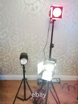 3 Used Mini Master Series Studio Strobe Lights and accessories K180-A