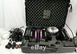 3 White Lightning Ultra 1200 Photo Light Kit Photography Strobe Lighting Slaves