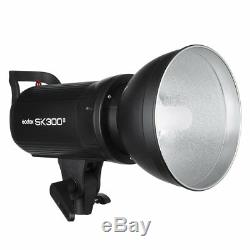 3Godox SK300II Studio Strobe Flash Light Head +Trigger+Softbox +Light Stand Kit