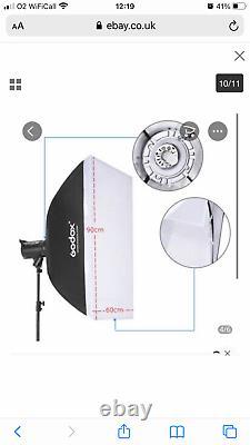 3x Godox DE300 300W Studio Kit Flash Strobe Light + Trigger + 2SoftBox +3stand