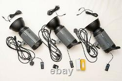 3x Neewer S-400N Studio Strobes with triggers and accessories 1200w (3x400w)