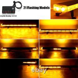 45.6 inch Emergency Flashing Lamp Bar 78 LED Amber Car Strobe Light Warning +