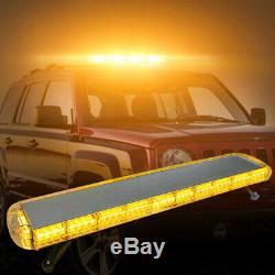 48 88LED Amber Roof Emergency Strobe Light Bar Top Warning Tow Truck Response