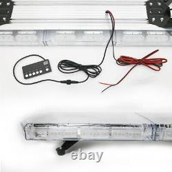 48 88LED Amber&White Roof Light Bar Truck Emergency Beacon Warning Plow Strobe