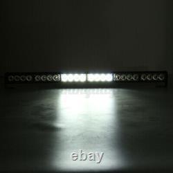 4X 24 LED Car Truck 27'' Emergency Strobe Light Bar Warning Flashing Lamp Beacon