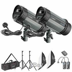 500W Photo Studio Strobe Flash Light Softbox Lighting Kit
