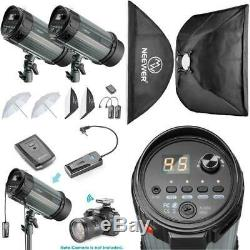 600W(300W x 2) 5600K Photography Studio Flash Strobe Light Lighting Kit Perfect