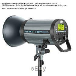 600W GN82 Studio Flash Strobe Light Monolight with 2.4G Wireless Trigger