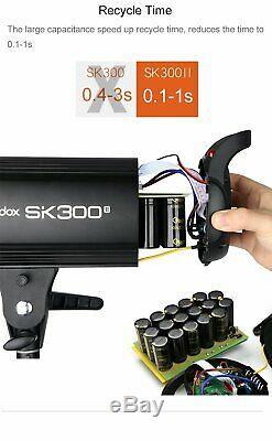 600W UK Godox 2x SK300II 300w 2.4 Studio Strobe Flash Light Head Trigger Softbox