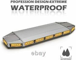 64 LED Emergency Light Bar Flash Warning Roof Strobe Beacon Amber Top Car Trucks