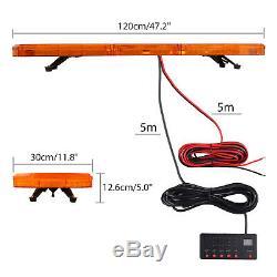 88LED Amber Warning Strobe Flashing Light Recovery Magnetic Beacon 21Modes UK
