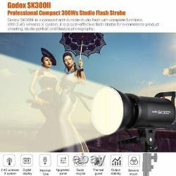 900W 3x Godox SK300II 300w Studio Strobe Flash Light Head+Softbox F Nikon Photo