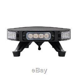 96 LED Amber Emergency Warning Strobe Recovery Light Bar Truck Flashing Beacon