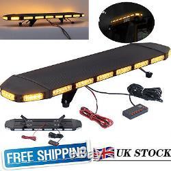 96 LED Car Strobe Light Emergency Flashing Lamp Bar Beacon Amber Warning IP65 UK