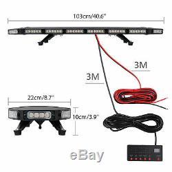96 LEDs Emergency Bar Recovery Flashing Warning Strobe Light Beacon 21 Modes