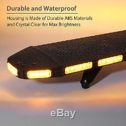 Amber Car Strobe Light Warning Emergency Flashing Lamp Bar 96LED 288W 21MODES