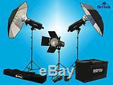 Britek, 1000 Ws 3 Strobe Portrait Kit+cases+dvd 599.00