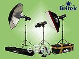 Britek 3 Strobe Studio Flash Light Portrait Kit 1320ws