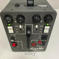 Dyna-Lite M2000DR Dynalite Power Pack Strobe Flash Unit TESTED EUC