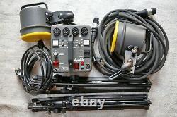Dynalite strobe kit MP400 Power pack with 2 Flash Heads 2050 2000 watt, 2 Stands
