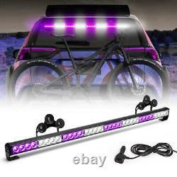 Emergency Warning Traffic Advisor Strobe Light bar 36'' Flashing Purple White