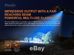 Fenix LR35R 10000 Lumen Long Throw Rechargeable LED Flashlight