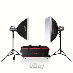 GS200II Fan Cool Strobe Bowens S Fit School Portrait Lighting Studio Flash Kit