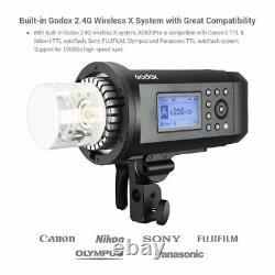 Godox 2 AD600Pro 600W TTL HSS Strobe Flash Grid Softbox Trigger Light Stand Kit