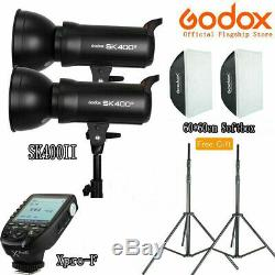 Godox 2pcs SK400II 400W Studio Strobe Flash Light Lamp + XPro-N Trigger + Gift