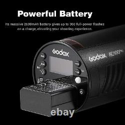 Godox AD100 Pro Portable Flash Head Strobe Light 100Ws Round Head TTL HSS