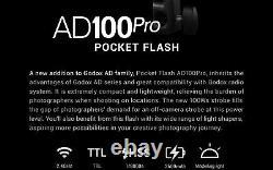 Godox AD100Pro AD100 Pro 100W 2.4G Flash Strobe 1/8000 HSS+AK-R1 Accessories Kit