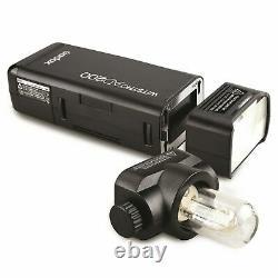Godox AD200 Studio Flash 200Ws 2.4G TTL Flash Strobe XPRO Fuji Transmitter