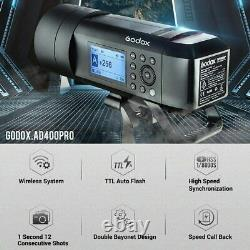 Godox AD400 Pro 400Ws 2.4G TTL All-in One Outdoor Flash 1/8000s HSS Flash Strobe