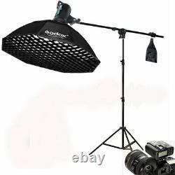 Godox DE400II 400W Studio Flash Strobe Light Softbox Trigger Stand Boom Arm Kit