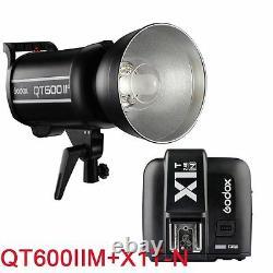 Godox QT600IIM 600W 2.4G HSS Studio Strobe Flash Lights+X1T-N Transmitter Sets