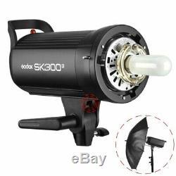 Godox SK300II 300Ws GN58 Flash Strobe Speedlite+95cm Grid Softbox+2m light stand