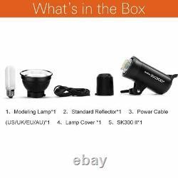 Godox SK300II 300Ws GN65 5600K 0.1-1.0s Recycle Time Strobe Flash Studio Light