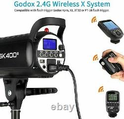 Godox SK400II 400Ws GN65 5600K 2.4G Wireless Studio Flash Strobe Light UK STOCK