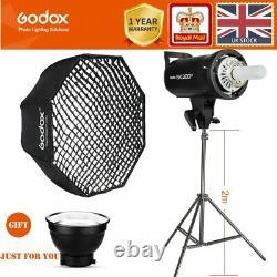 Godox SKII SK300II 300W 2.4G Flash Strobe +95cm softboxes with Grid+ light stand