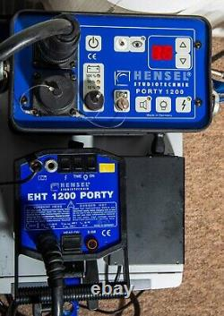 Hensel Porty 1200 Portable Studio Flash Strobe, Head And Reflector. 1200w