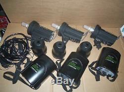 LOT 3 Calumet Genesis 300B with Genesis B Power Port Studio Flash Lighting Strobe