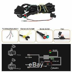 Motorcycle LED Auxiliary Lights AAIWA Flash Strobe Driving Fog Light for BMW